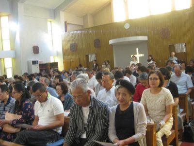 ご祖父母様が、聖堂に大勢集まって下さいました