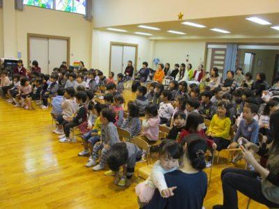 満3才の子ども達も、お誕生日会を楽しみました。