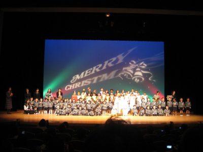 最後は「We wish you a Merry Christmas」を歌ってで幕を閉じました
