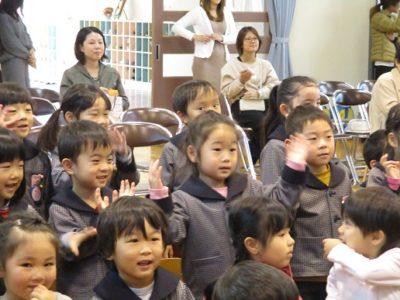歌あそびゲームも、すぐに子ども達はのってくれました。