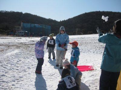 雪だるま作りや、雪合戦もしたよ。