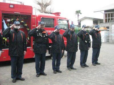 最後に、お礼のご挨拶をすると、消防士さんは敬礼して下さいました。