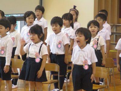 今日のために練習してきた歌をさくら組が披露します。