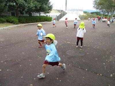 ただ走るだけでも楽しい子ども達。