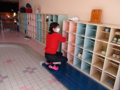 子ども達の靴箱もきれいに。