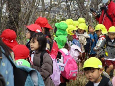 幼稚園も見えるね。「えっ?どこどこ?」