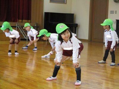 年少ひよこ組の準備体操