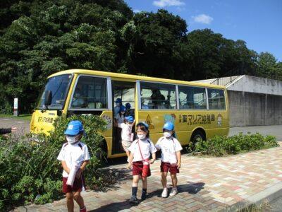 園バスで、牛臥公園に到着